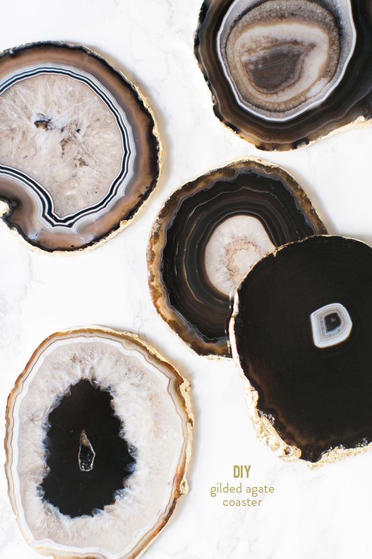 Photography : Ruth Eileen Photography Read More on SMP: http://www.stylemepretty.com/living/2015/12/09/diy-gilded-agate-coasters/