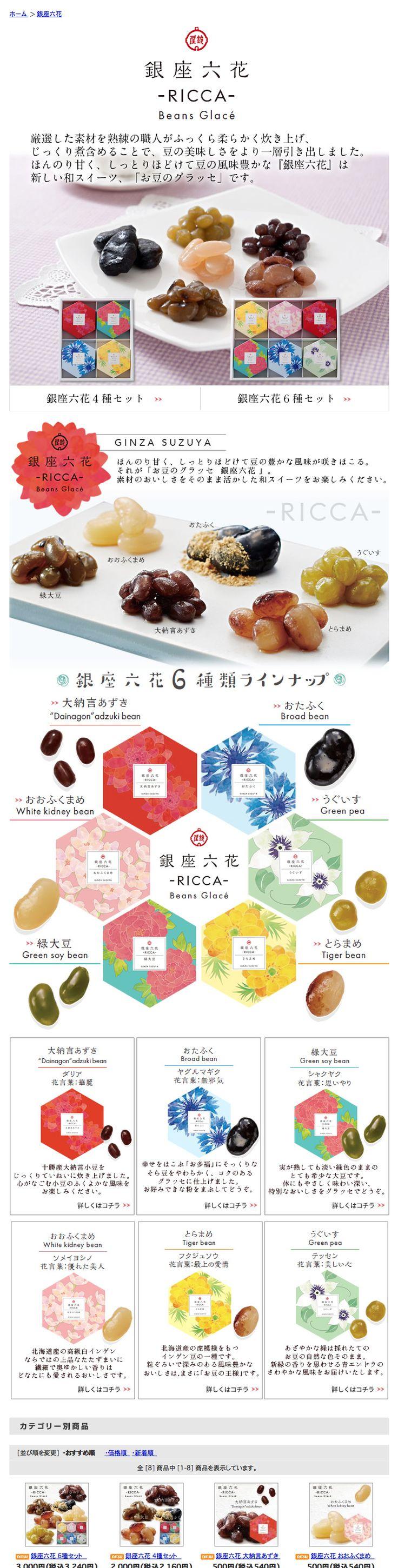 銀座鈴屋【新発売】新しい和スイーツ お豆のグラッセ「銀座六花」