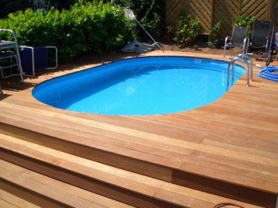 Die besten 25+ Poolumrandung holz Ideen auf Pinterest Gartenset - schwimmbad selber bauen