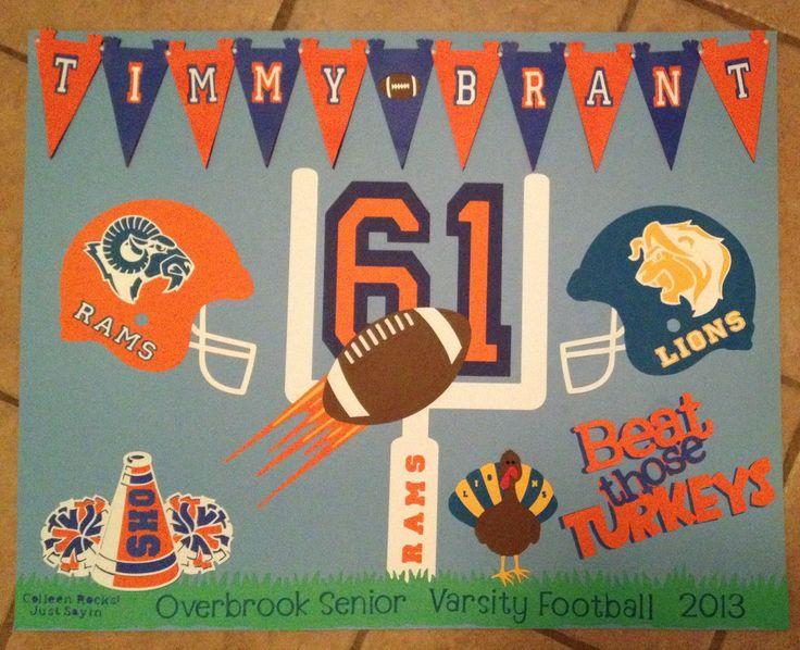 Football Poster Colleen McGuriman Crafts Pinterest