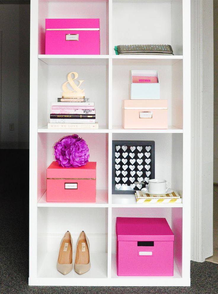 Tour the gorgeous, Kate Spade-inspired office of designer and blogger Oksana Radionova, learn the art of shelf styling and see where all the designing magic takes place.