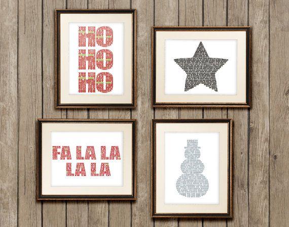 Christmas Printable Home Decor Christmas Decor Printables Of Carols Lyrics Easy And Cheap