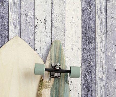 Papier peint Surf | Papier peint Planche Bois 8550-60 A.S. Création New England 2 - BRICOFLOR