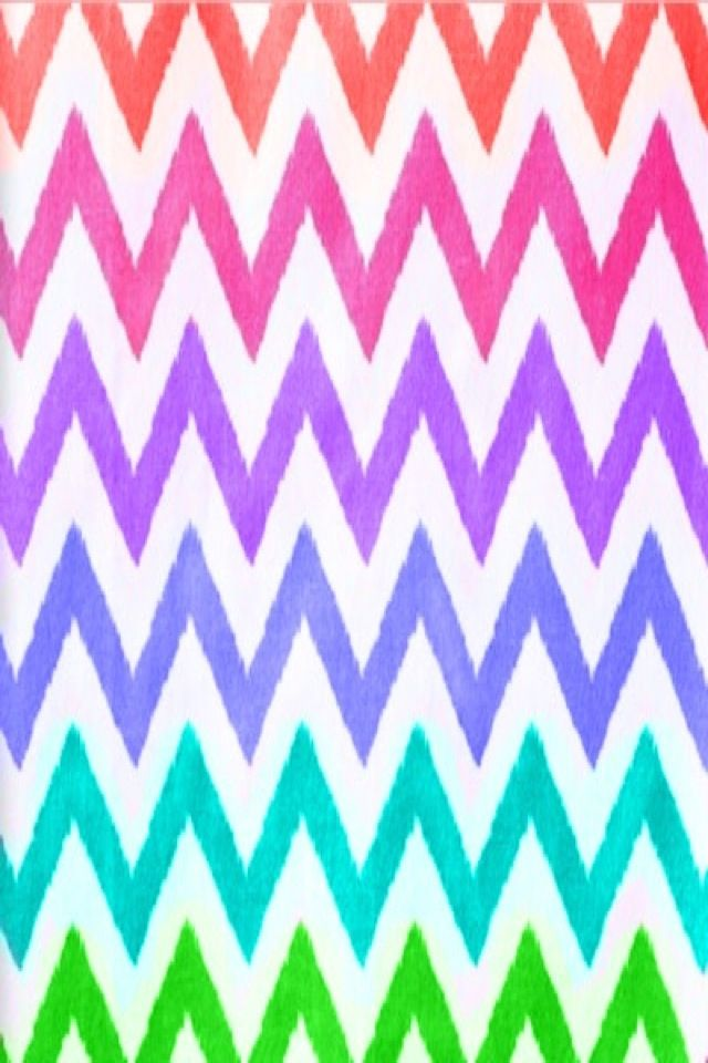 rainbow chevron wallpaper pattern wallpapers pinterest