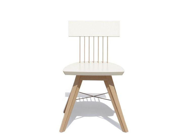 Lacquered wooden chair SCOTT by JOSE MARTINEZ MEDINA