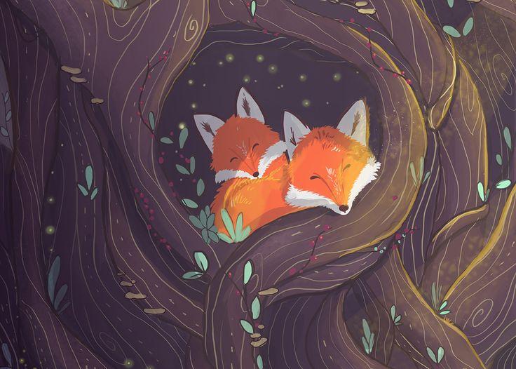 The Hope > beautiful foxy #illustration #art by Alejandra Londoño