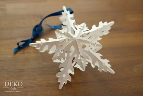 DIY: Sterne basteln in Eiskristall-Optik von Deko-Kitchen - mit Vorlage zum Ausdrucken