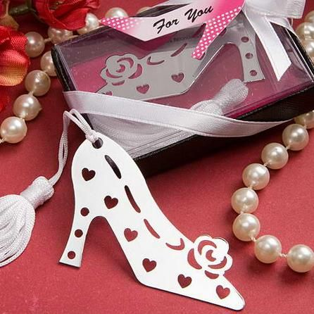 1PC High Heel Bookmark For Baptism Baby Shower Souvenirs Party Christening Giveaway Gift Wedding Favors and Gifts For Guest