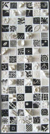 Black & White Clay Tiles.