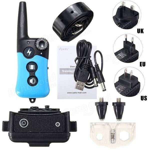 E-Collar Rechargeable Remote Shock Collar Waterproof Dog Training Collar Electric Pet Callar