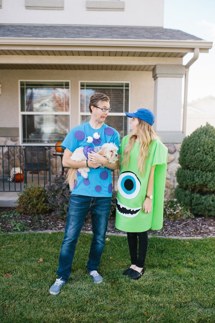 easy  and cheap monsters inc DIY costumes