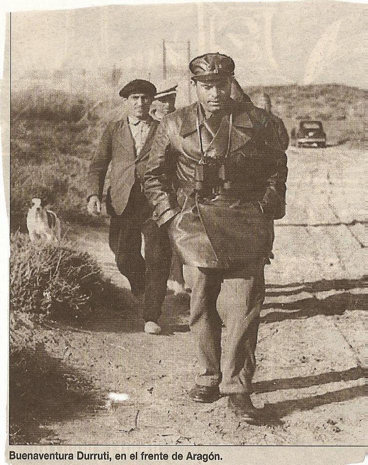 Buenaventura Durruti en Aragón