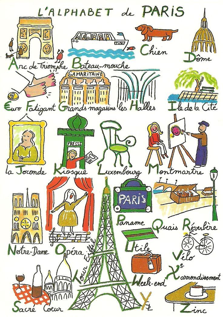 L'alphabet de Paris - French - français