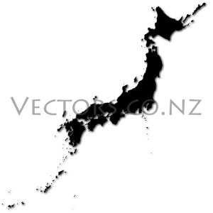 Blank Vector Map of Japan