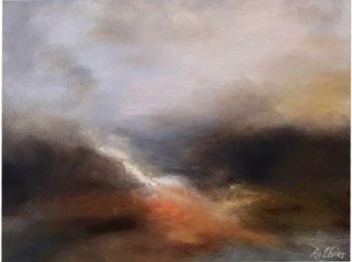 Orange field II – oil on canvas