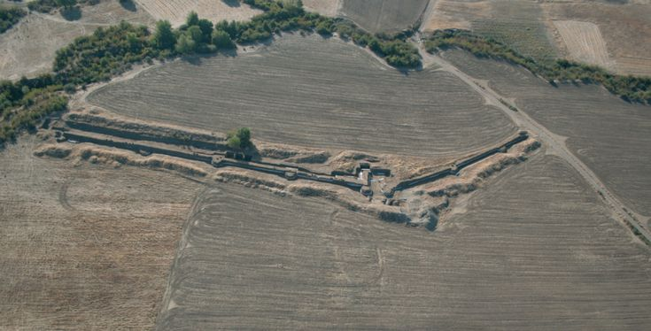 The ancient city   Museum of Royal Tombs of Aigai -Vergina - Eastern Walls of the ancient city, Macedonia, Greece