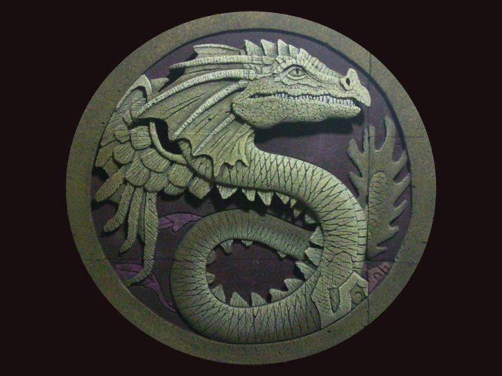 tabalkon sanat evi duvar pano ytong rölyef - relief dragon wall plaque