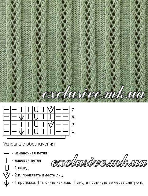 Ажурные дорожки спицами - простые ажурные схемы   Салон эксклюзивного вязания