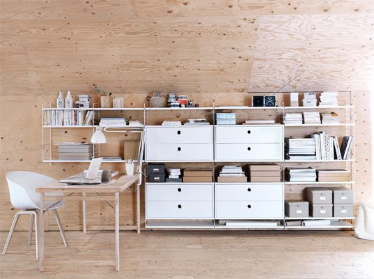 Finally found something I like that doesn't cost the earth - study project is go.: Work Area, String Shelf, Offices Spaces, Work Spaces, Home Interiors Design, Workspaces, String System, String Furniture, Shelves United