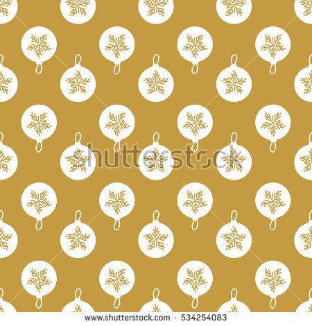 Metal Christmas-tree balls background. Material gold. Seamless pattern abstract. Hand drawing of a snowflake. Vector illustration on a black background.