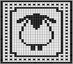 Be cute in different colors for a knitter or crocheter.  Sheep Chart for Washcloth by Tammy Sanders