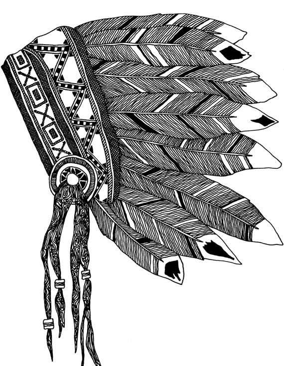 indian feathers template - 570×735