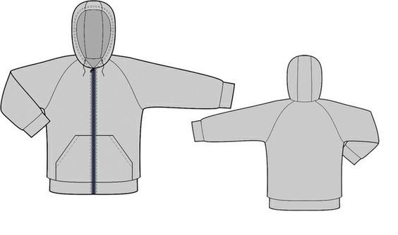 Sweatshirt With Hood - Sewing Pattern #8005 Made-to-measure sewing pattern from Lekala with free online download. Darts