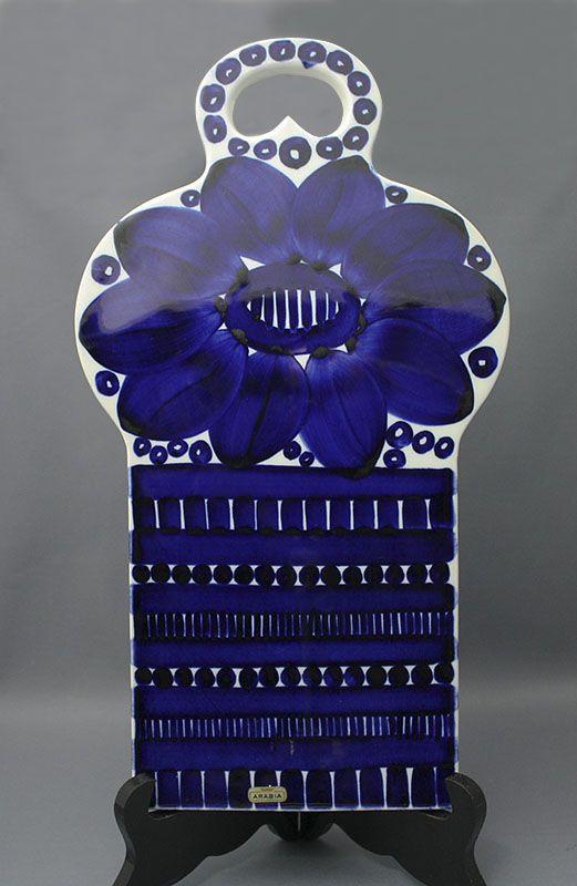 Arabia leikkuulauta, Valencia. Design, Ulla Procopé. Korkeus 35cm, leveys 19,5cm, paino 1.034kg.   Astiataivas.fi - Vanhojen astioiden ystävien löytöpaikka