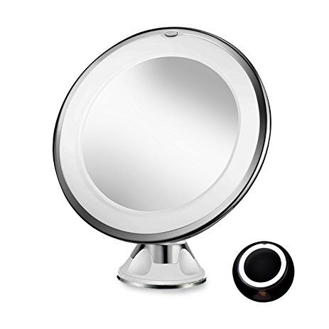 Sayard 10x Magnifying Lighted Vanity Makeup Mirror With Natural White Led 360 Degree Swivel Rotation