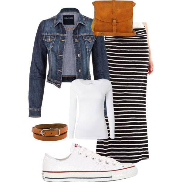Spring casual by elsass on Polyvore featuring White Stuff, A.N.A, Converse, Ilundi and Hermès
