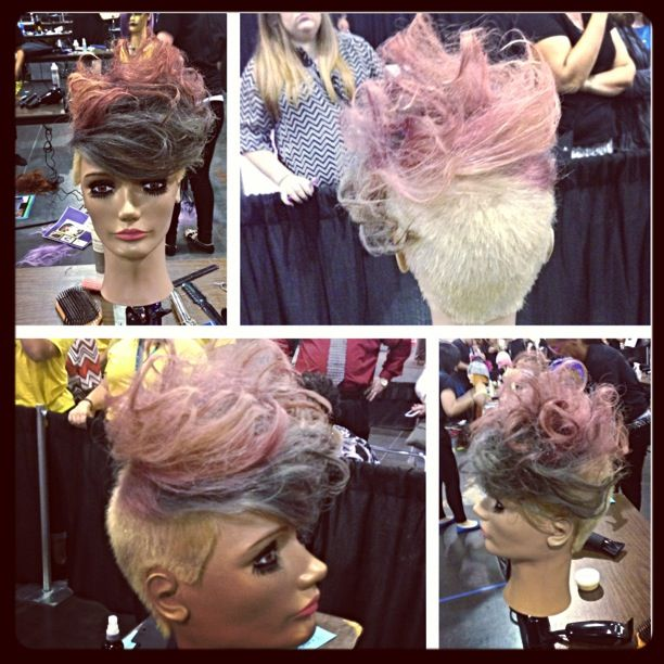 Competition piece for Premiere Orlando Hair Show. Trend Color, Cut and Style by Ave.