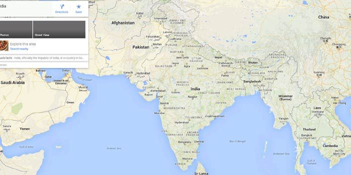 Google map depicts wrong Indian boundries