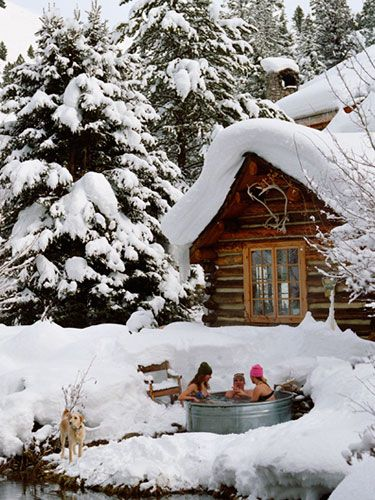 Steamboat Springs, CO..  How awesome with the hot tub outside in the snow.. luv it!