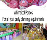 Whimsical Parties - Gauteng, is just a wish away and we take care of everything so you don't have to. We are a party planning company that strives for excellence & creativity & we treat every party as it where our first. We offer the following: -Entertainers -Face painters -Themed Decor -Pamper parties -Craft parties -Party packs -Themed cupcakes and cakes -Catering -Kids parties and parents area -Baby showers Entertainers.