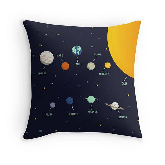 cojines infantiles, cojin estrellas, cojin planetas, sistema solar,espacio exterior,ilustracion planetas,decoracion planetas,cojines espacio
