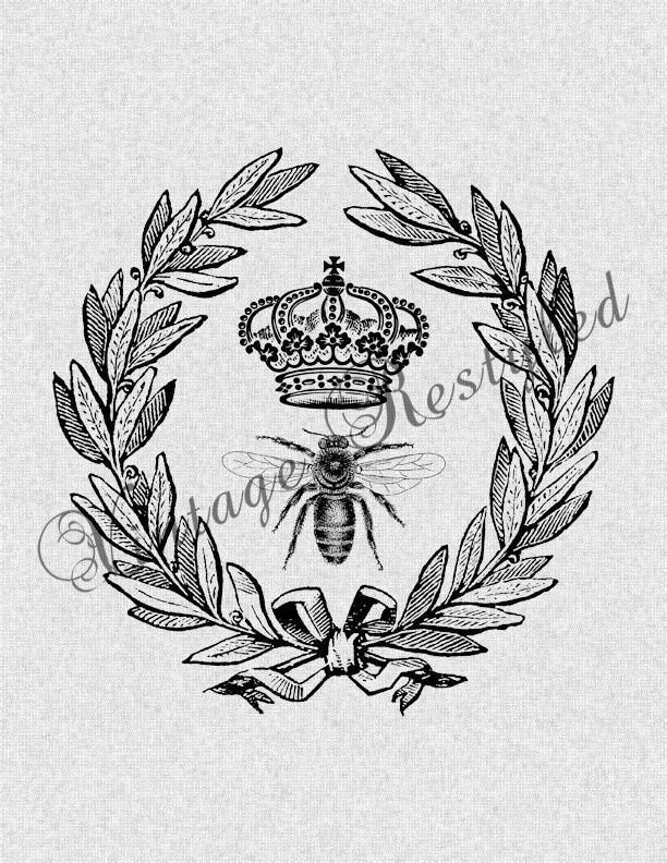 queen bee tattoo   Queen Bee Crown Wreath... possible tattoo?? I think I am ...   Tattoos