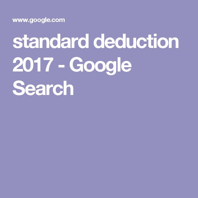 Standard deduction 2017 - Google Search