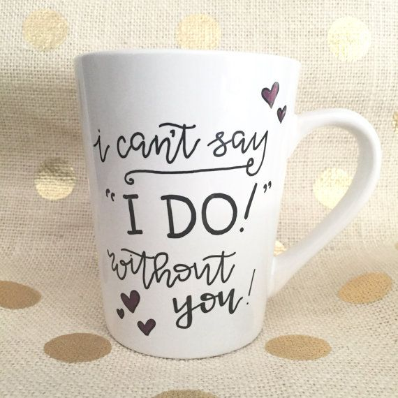 bridesmaid gift mug / will you be my by theapothecarybee on Etsy