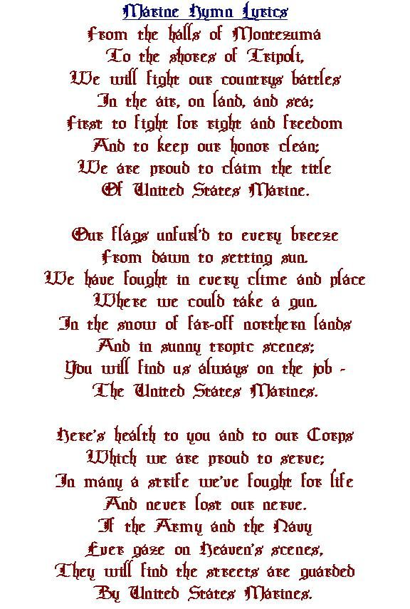 Lyric marine corps hymn lyrics : Military Hymn Pictures to Pin on Pinterest - PinsDaddy