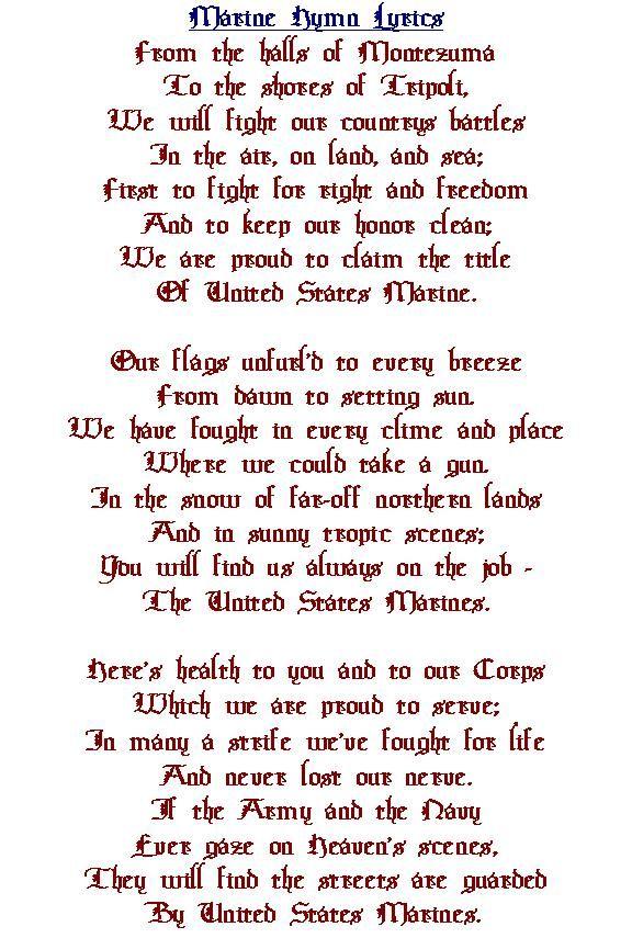 Lyric marine corps hymn lyrics : Military Hymn Pictures to Pin on Pinterest - PinsDaddy