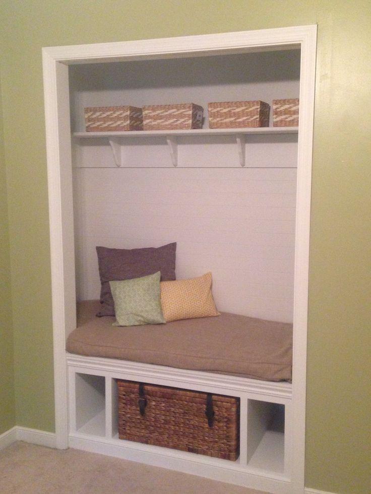 My Sisteru0027s Closet Redo! Closet Bench Seat! Super Cute Storage!