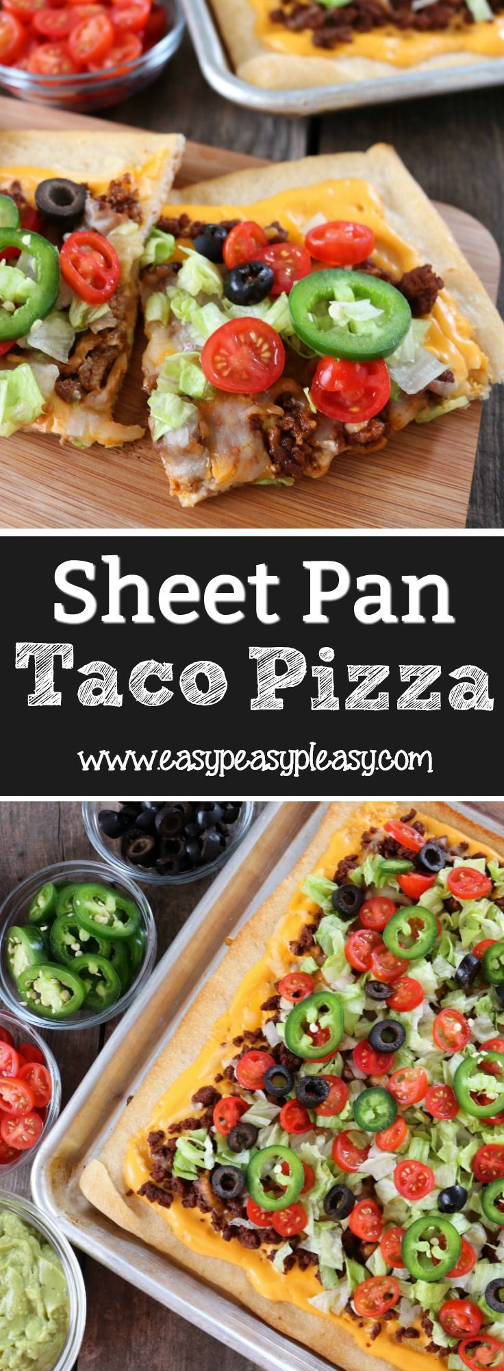 Win over your family and friends with this easy weeknight meal or game day recipe. The ultimate sheet pan taco pizza is perfect for feeding your family or a crowd.