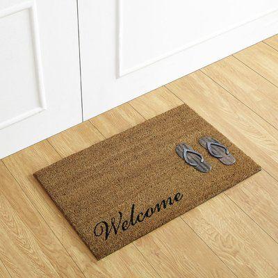 Better Trends Flip Flop Welcome Coir Doormat