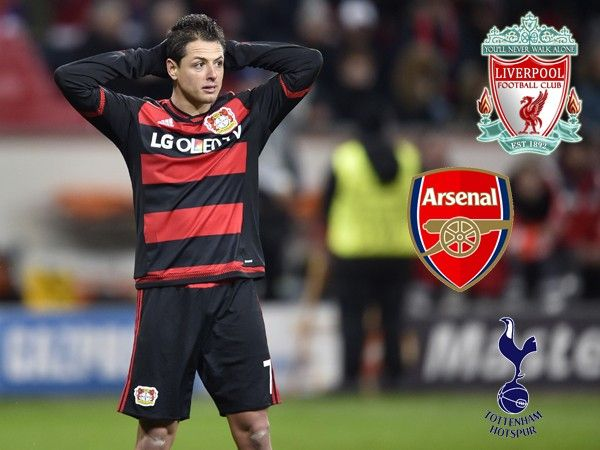 El Liverpool, Arsenal and Tottenham quieren a Chicharito. January 19, 2016.