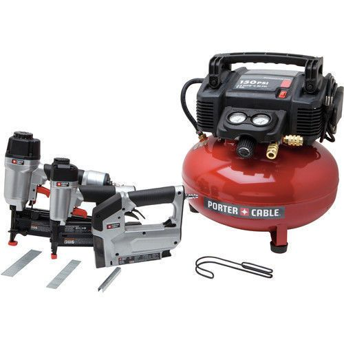Porter Cable 3 Tool Finish Nailer And Brad Nailer Combo Kit Pcfp12234 Recon Porter Cable Combo Kit Porter Cable Air Compressor