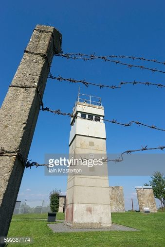 Guard tower at former East German border at Schlagsdorf in... #schlagsdorf: Guard tower at former East German border at… #schlagsdorf