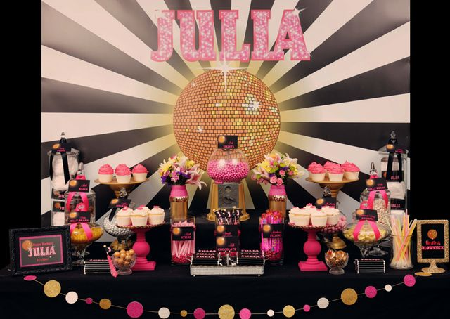 183 best images about elegant birthday party goldpinkblue on