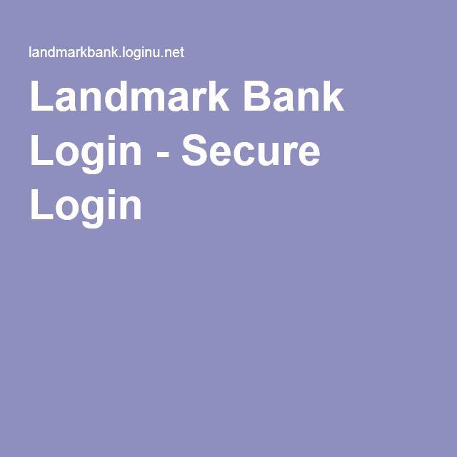 Landmark Bank Login - Secure Login