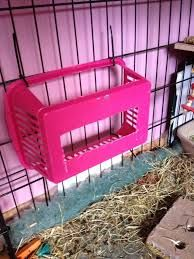 Great idea to make for a DIY hay feeder. There are many different sizes of baskets that can be repurposed as a feeder.
