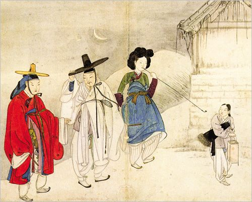 korean paintings | Chosun Genre Paintings Show Change in Women's Roles
